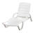 Adams  White  Resin Frame Chaise Lounge