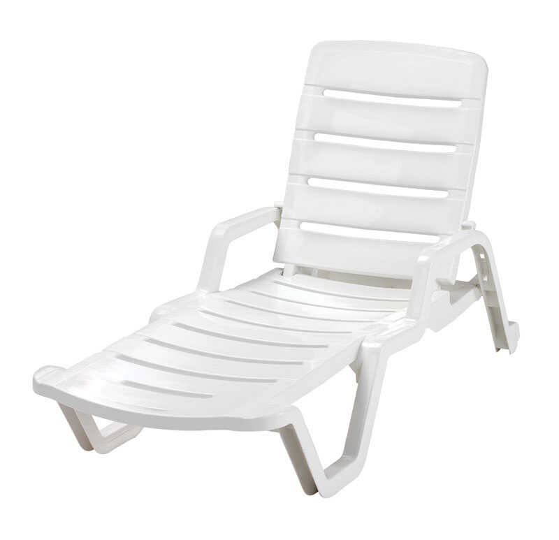 Adams  Polypropylene  Adjustable Backrest Chaise Lounge