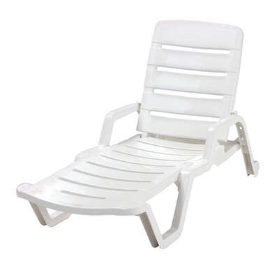 Adams 1 White Resin Chaise Lounge Ace Hardware