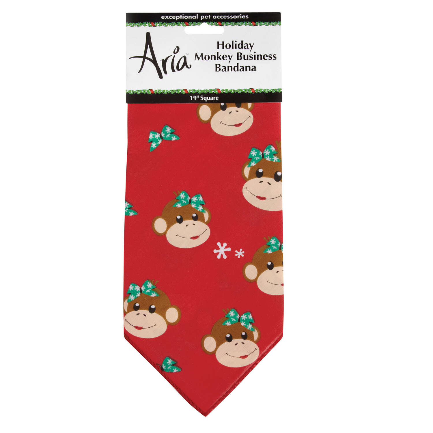 Aria  Red  Holiday Monkey Business  Bandana