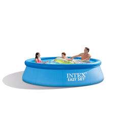 Intex  1018 gal. Round  Plastic  Above Ground Pool  30 in. H x 120 in. W x 10 ft. Dia.