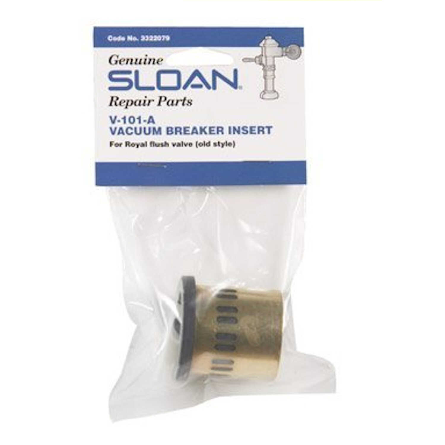 Sloan  Vacuum Breaker Insert  Polished Chrome  Brass/Rubber