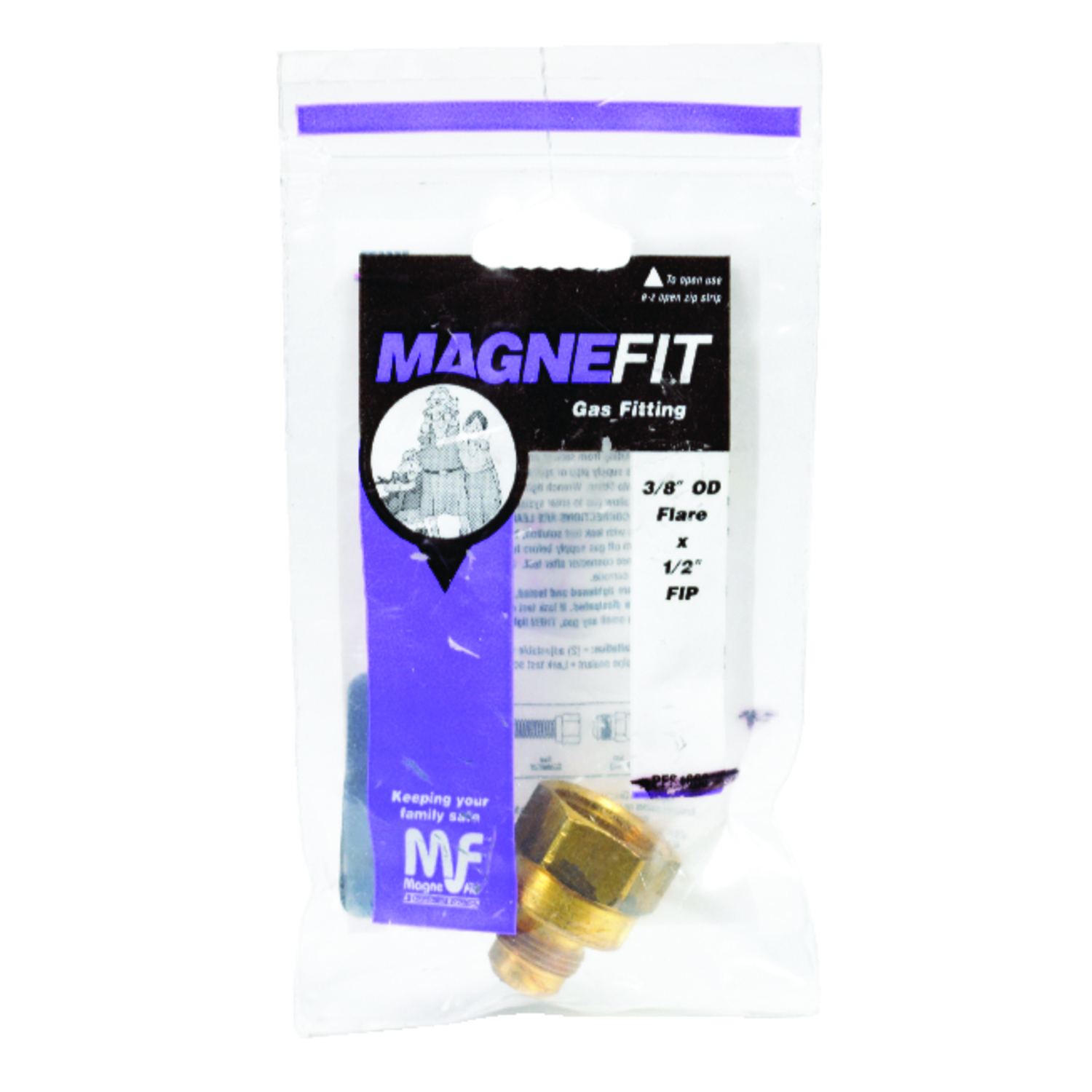 Magne Flo  3/8 in. Flare   x 1/2 in. Dia. Schedule 40, 80, 120  Brass  Gas Adapter  FIP