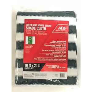 Ace  Polypropylene  Shade Cloth  20 ft. W x 10 ft. L