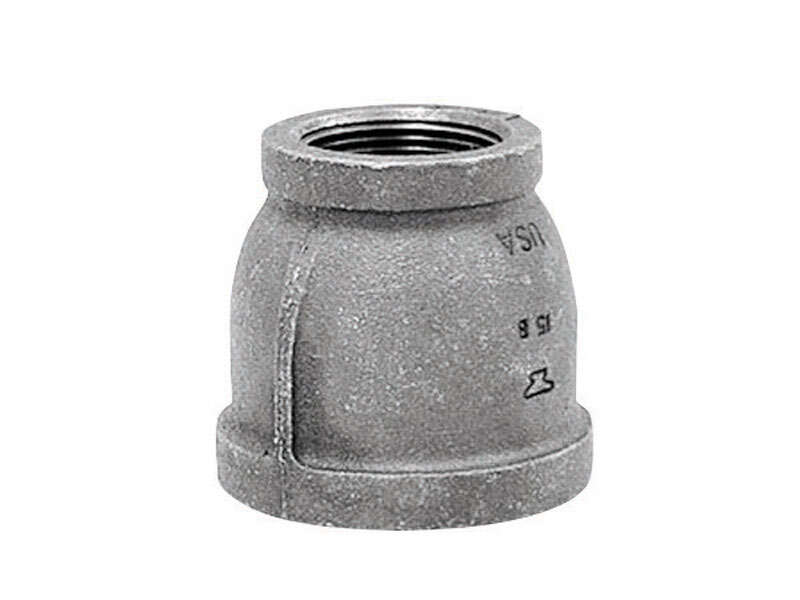 Anvil  3/4 in. FPT   x 1/2 in. Dia. FPT  Black  Malleable Iron  Reducing Coupling