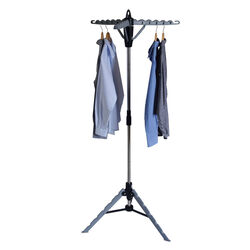 Homz 67 in. H x 29 in. W x 29 in. D Metal Tripod Clothes Drying Rack