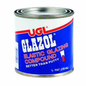 UGL  Glazol  White  Glazing Compound  0.5 pt.