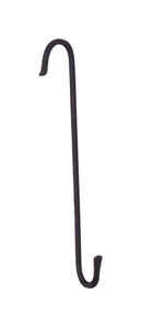 Panacea  Black  Wrought Iron  8 in. H Extension Double J  Plant Hook