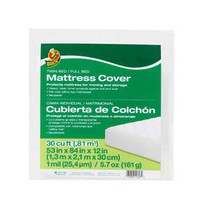 Duck Brand  Full  Plastic  Mattress Cover