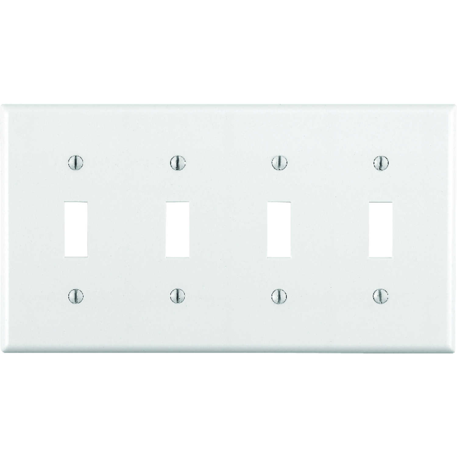 Leviton  White  4 gang Plastic  Toggle  Wall Plate  1 pk