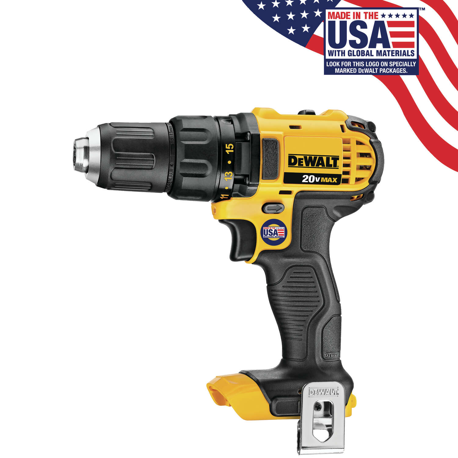DeWalt  20 volt 1/2 in. Brushed  Cordless Compact Drill/Driver  Tool Only