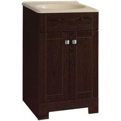 Continental Cabinets  Single  Dark  Java  Vanity Combo  18 in. W x 16 in. D x 32 in. H