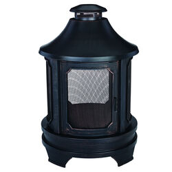 Living Accents  Old World  Wood  Steel  45 in. H x 29.5 in. W x 29.5 in. D Outdoor Fireplace