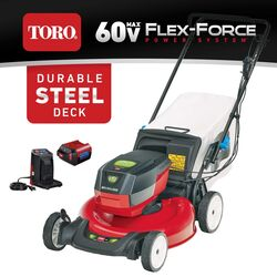 Toro Flex Force 21356 21 in. 60 volt Battery Self-Propelled Lawn Mower Kit (Battery & Charger)