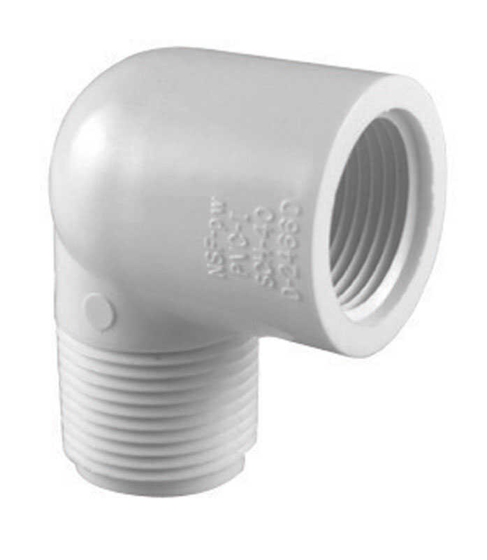 Charlotte Pipe  Schedule 40  1 in. MPT   x 1 in. Dia. FPT  PVC  Elbow