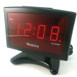 Westclox  2.25 in. Black  Alarm Clock  Digital