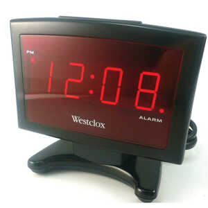 Westclox  0.9 in. Black  Alarm Clock  Digital
