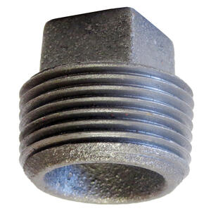 Anvil  4 in. MPT   Cast Iron  Cored Square Head Plug