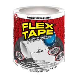 Flex Tape  As Seen On TV  4 in. W x 5 ft. L White  Waterproof Repair Tape