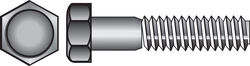 Hillman  5/16 in. Dia. x 1 in. L Zinc Plated  Steel  Hex Bolt  100 pk