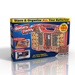 Battery Daddy  As Seen on TV  Battery Storage & Organization  Plastic  1 pc.