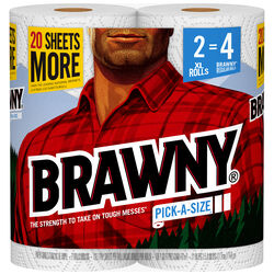 Brawny  Paper Towels  120 sheet 2 ply 2 pk