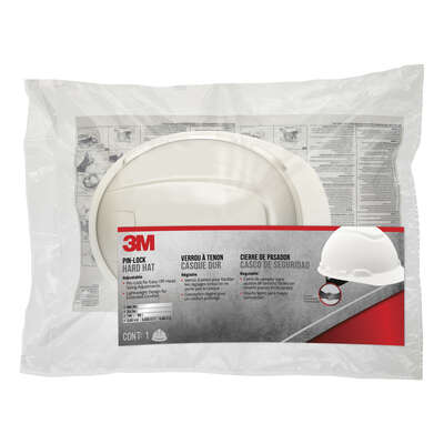 3M  Polyethylene  Safety Hard Hat  White  1 pk