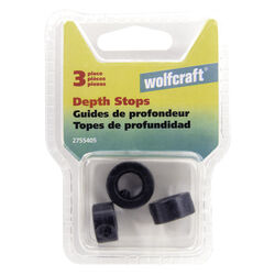 Wolfcraft  Steel  Drill Stop Set  Black  3 pc.