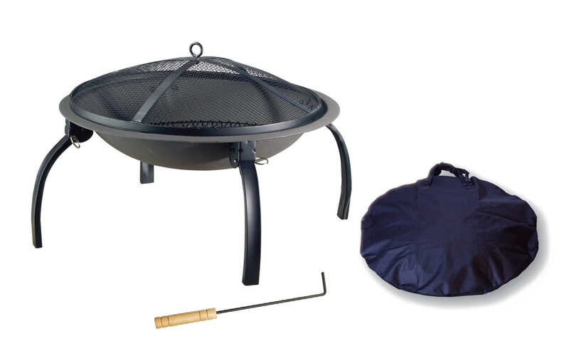 Living Accents  Portable  Wood  Fire Pit  34 in. D x 34 in. W x 17.7 in. H Steel