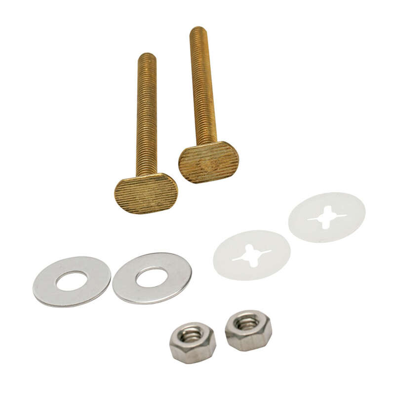 Fluidmaster Bowl to Floor Bolts Brass
