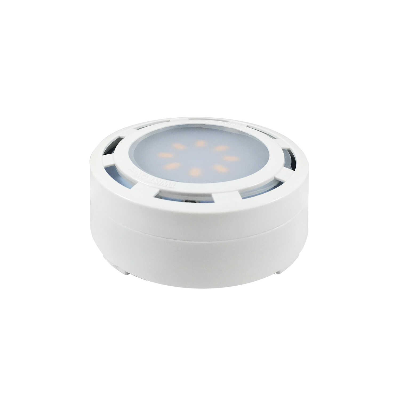 Amertac White Plug-In LED Puck Light Kit 5 Pk