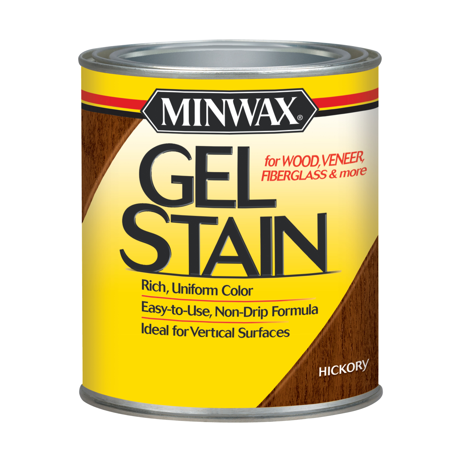 Minwax  Transparent  Low Luster  Hickory  Oil-Based  Gel Stain  1 qt.