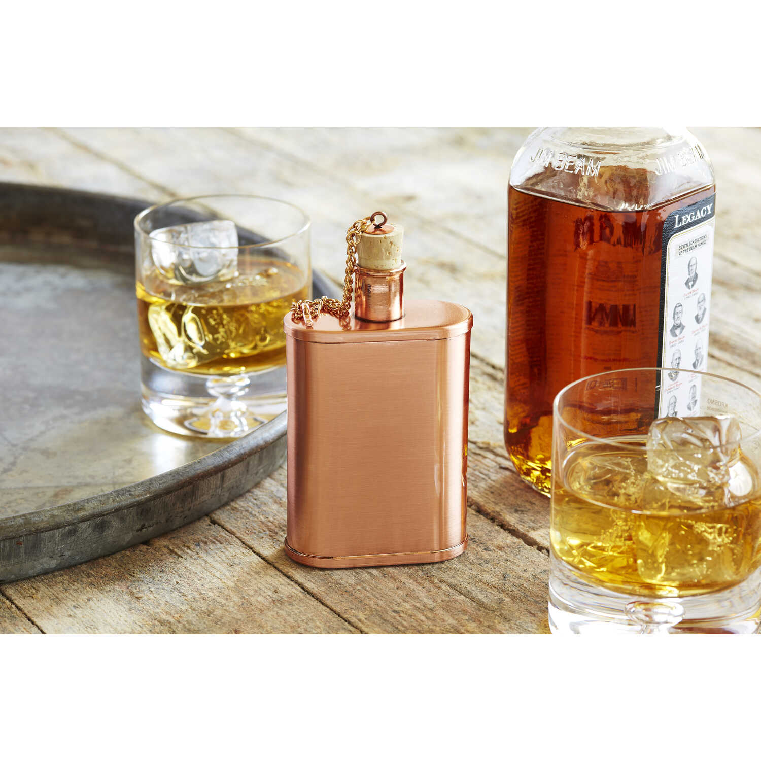 Refinery  9 oz. Copper  Flask  1 pk