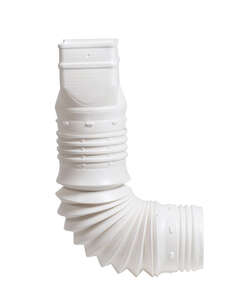 Flex-A-Spout  3.75 in. H x 9 in. L x 3.75 in. W White  Plastic  Flexible Downspout Extension