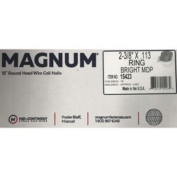 Magnum Pro 2-3/8 in. Angled Coil Nails 15 deg. Ring Shank 4500 pk