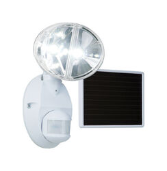 All-Pro Motion-Sensing 180 deg. LED White Outdoor Floodlight Solar Powered