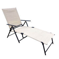 Living Accents Black Steel Frame Sling Lounge Chair