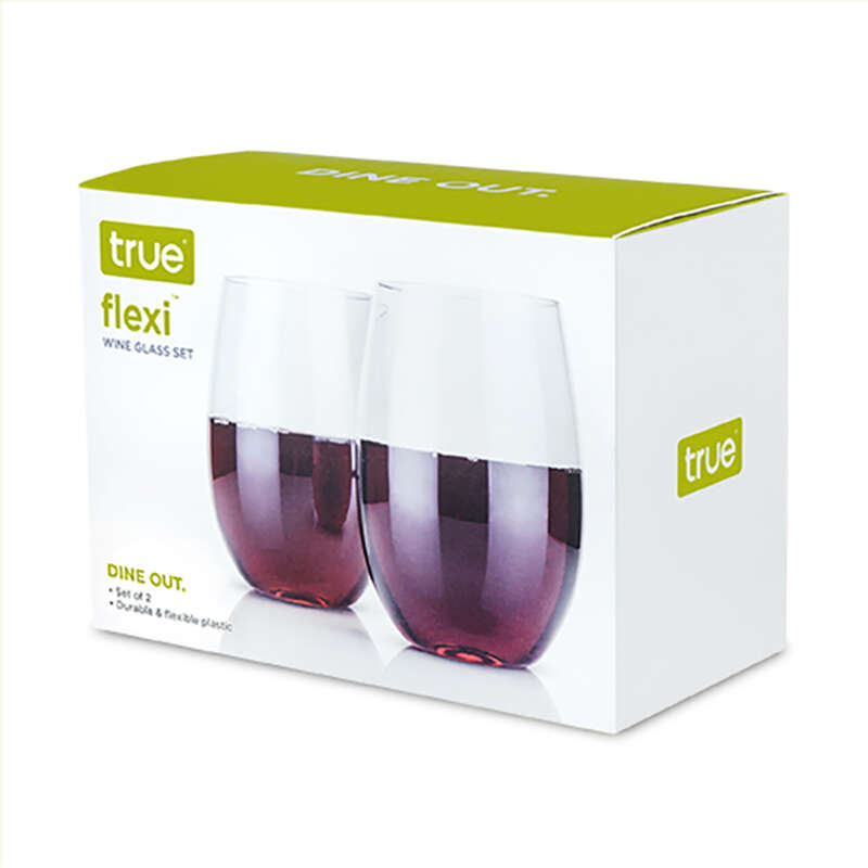 True  Flexi Dine Out  8 oz. Clear  Plastic  Wine Glass