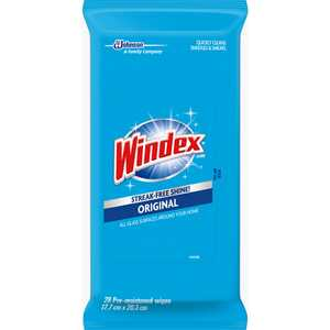 Windex  Original  No Scent Glass and Surface Cleaner  28 pk Wipes