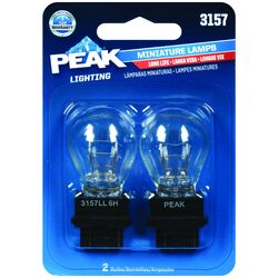 Peak Incandescent Parking/Stop/Tail/Turn Miniature Automotive Bulb 3157