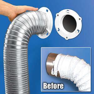 Dryer Dock Dryer Vent 6 in. White