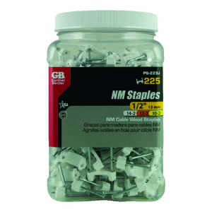 Gardner Bender  1/2 in. W Plastic  Insulated Cable Staple  225 pk