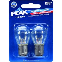 Peak  Incandescent  Parking/Stop/Tail/Turn  Miniature Automotive Bulb  2057