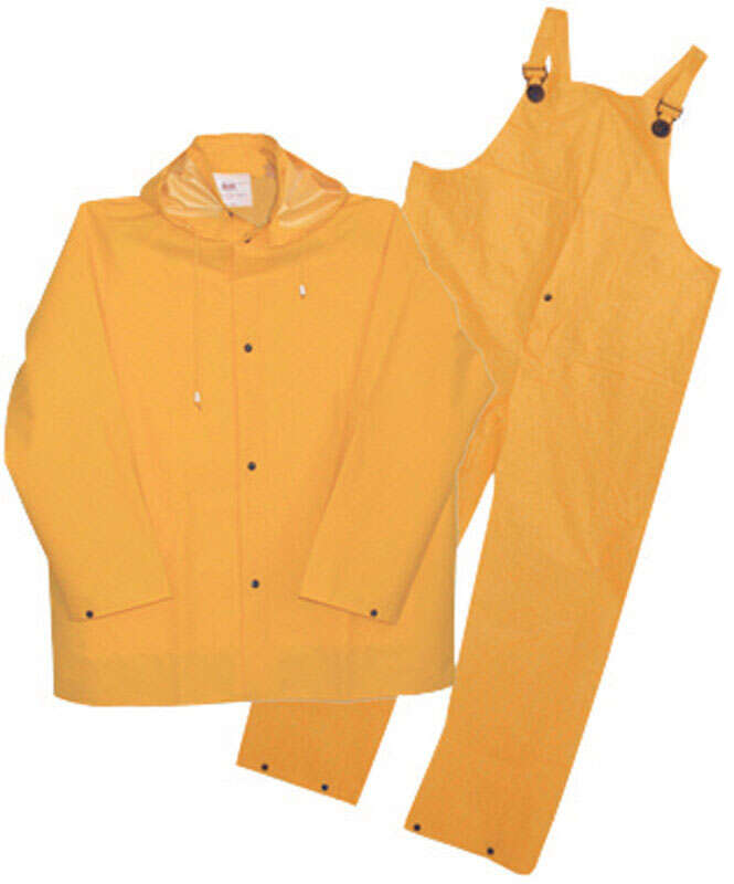 Boss  Yellow  PVC-Coated Polyester  Rain Suit  XL