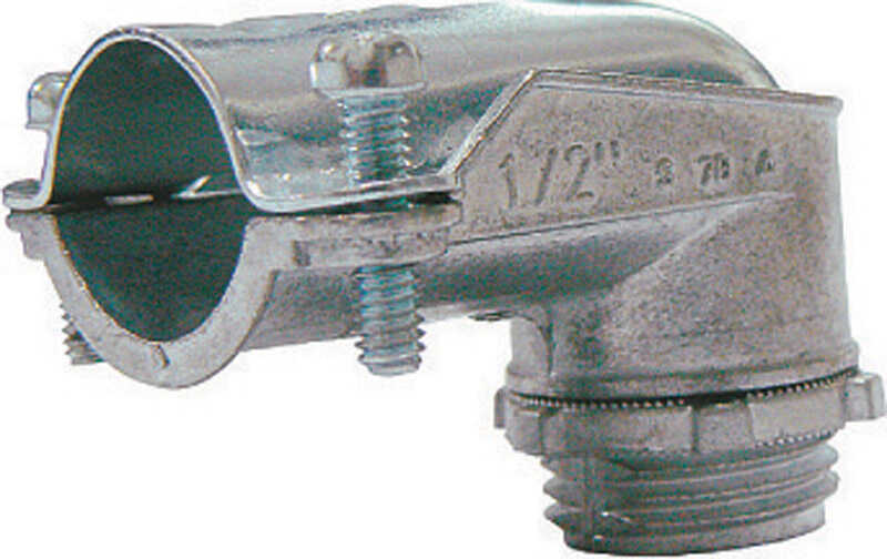 Sigma  3/8 in. Dia. Zinc  90 Degree Connector