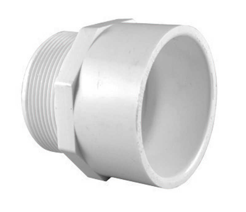 Charlotte Pipe  2-1/2 in. MPT   x 2-1/2 in. Dia. Slip  Pipe Adapter