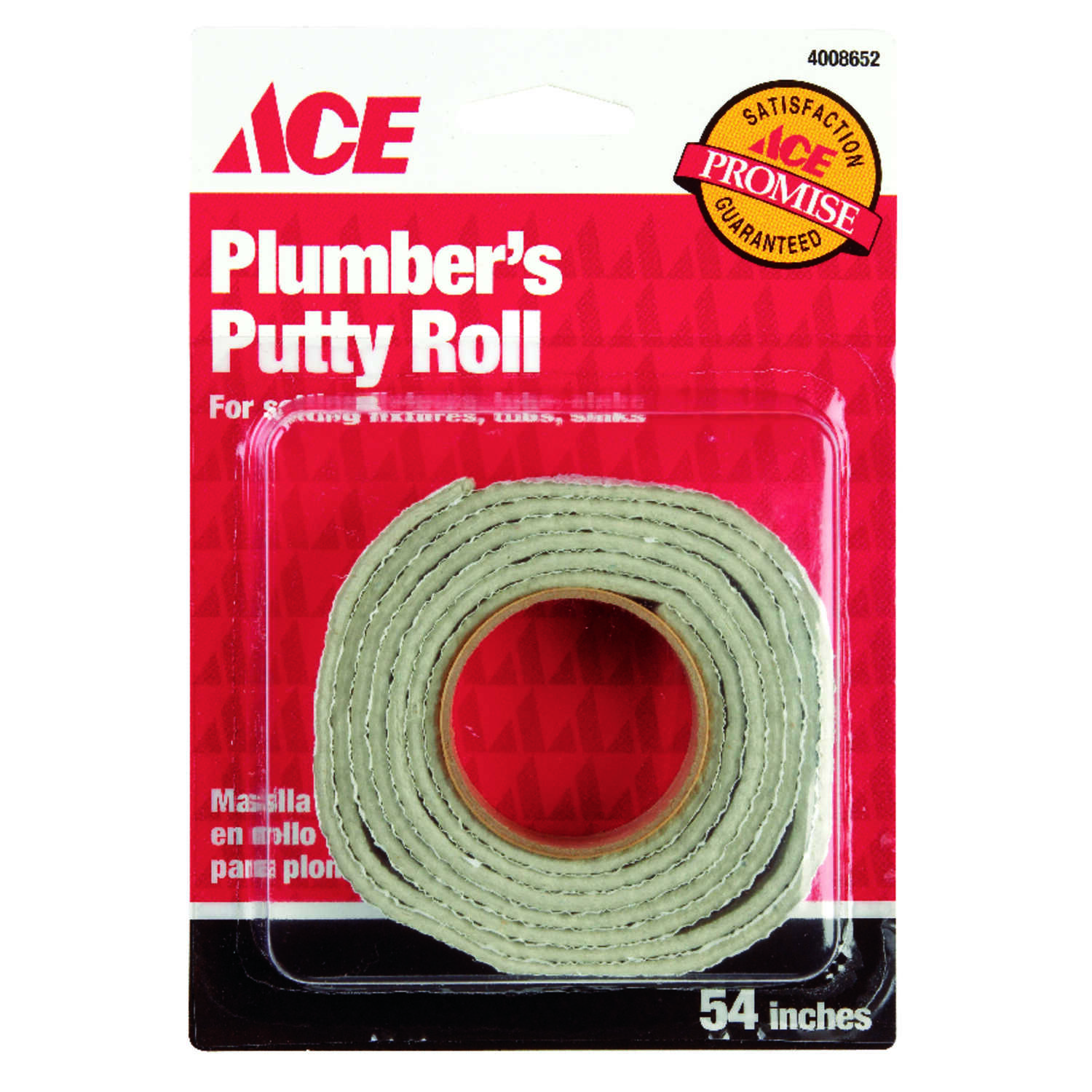 Ace  White  54 in. L x 3/4 in. W Plumber's Putty Roll  37 gm