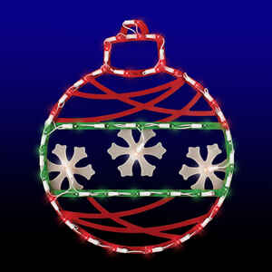 Impact Innovations  Ornament  Silhouette  Red/White/Green  Acrylic  1 each