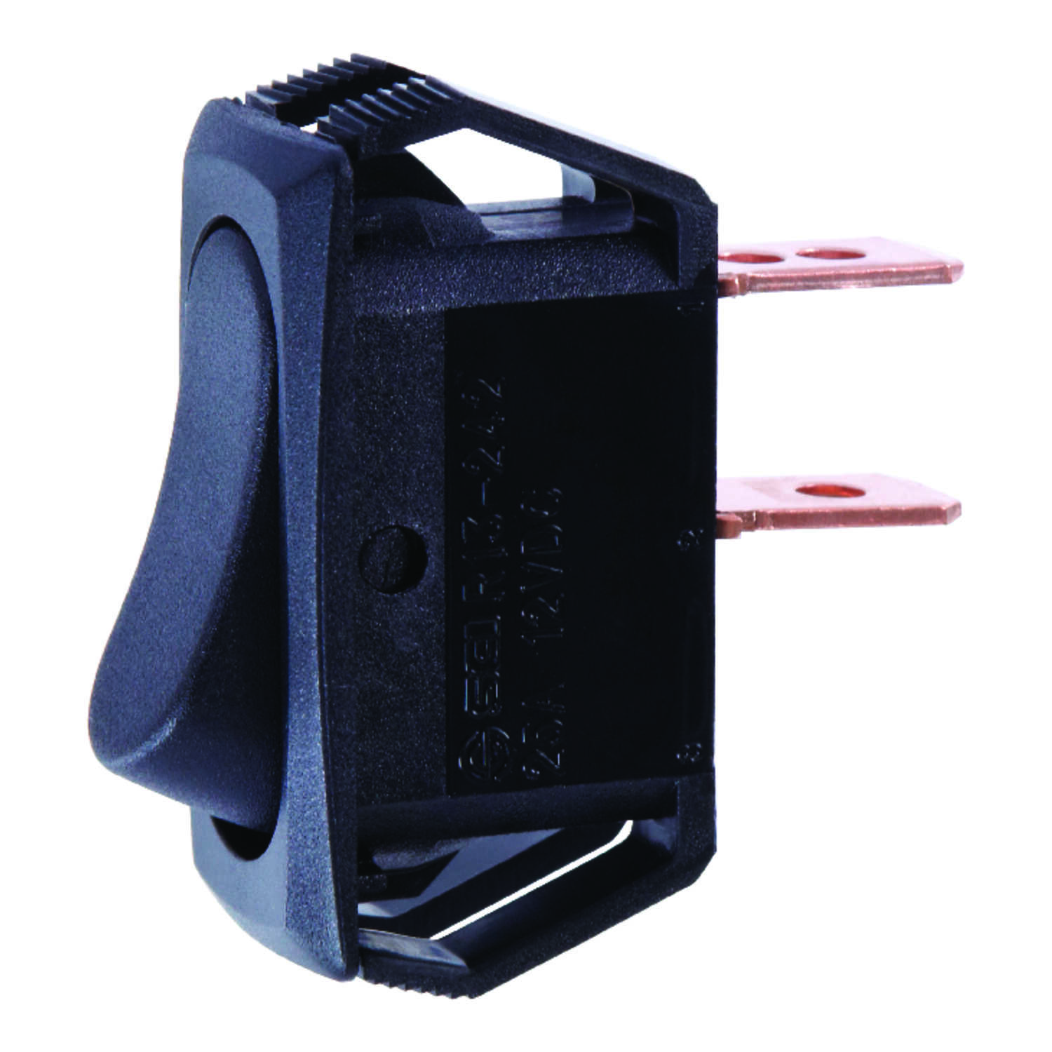 Jandorf  Rocker  Automotive/Marine Switch  1  Single Pole  25 amps Black