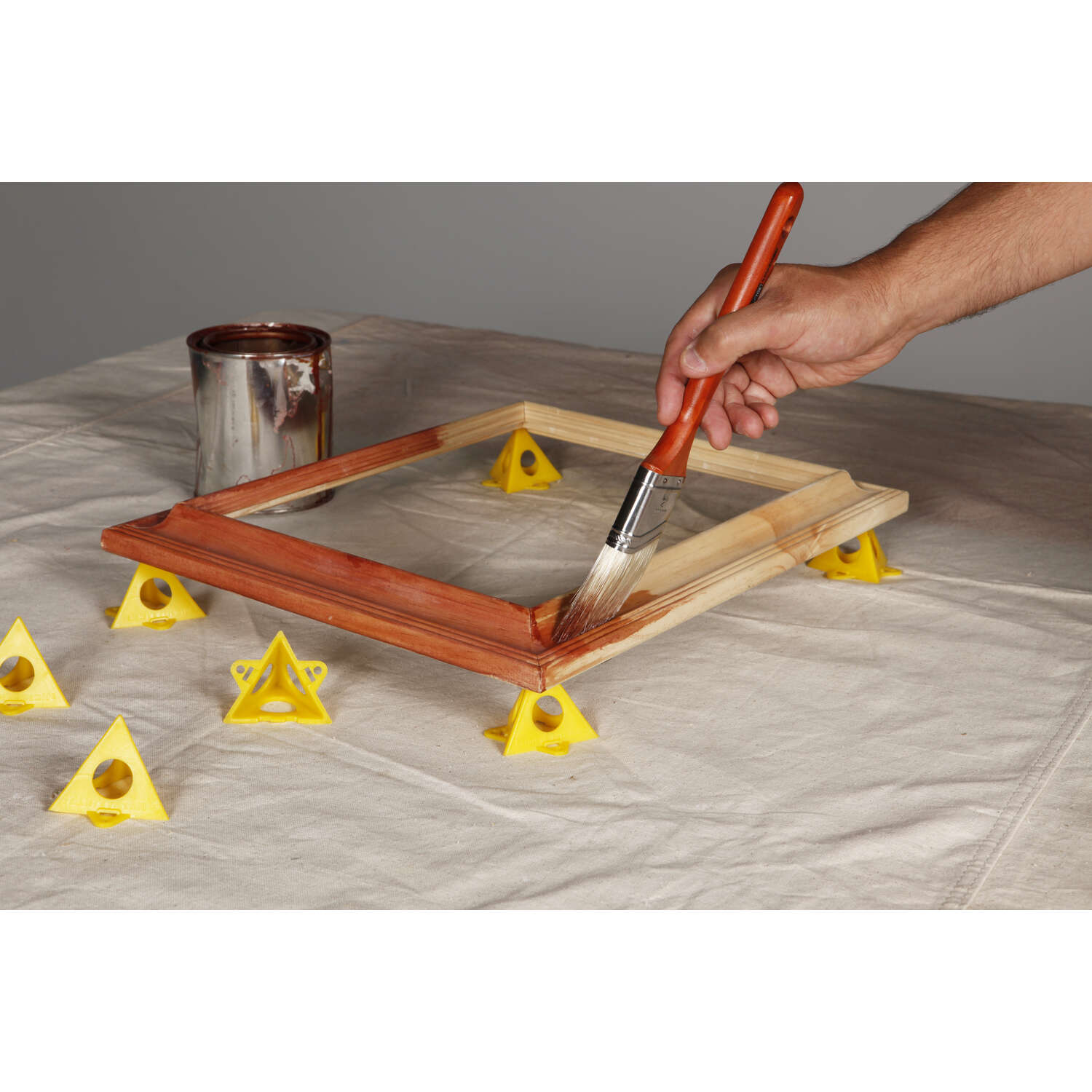 Hyde  2-1/2 in. W Plastic  Painter's Pyramid Work Supports